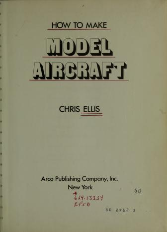 Cover of: How to make model aircraft | Chris Ellis
